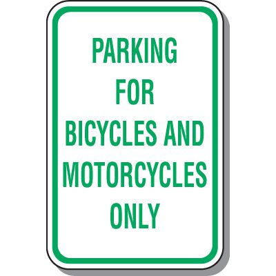 School Parking Signs - Parking For Bicycles And Motorcycles