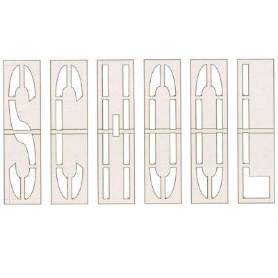 School - Pavement Plastic Stencil Set