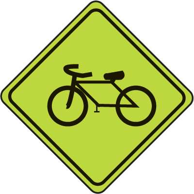 School Safety Signs - Bike Graphic