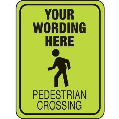 Semi-Custom School Safety Signs - Pedestrian Crossing