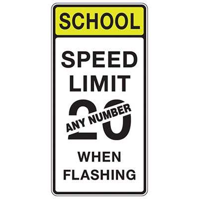 School Speed Limit - Semi-Custom School Zone Speed Limit Signs