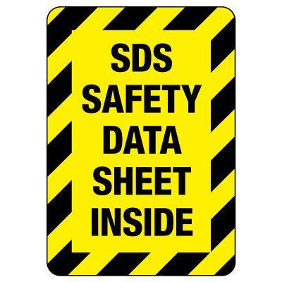 SDS Safety Data Sheet Inside Sign