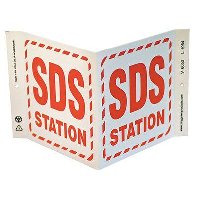 SDS Station V-Style Sign