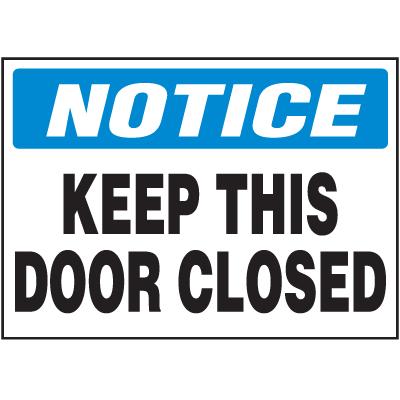 Security & Door Labels- Door Closed
