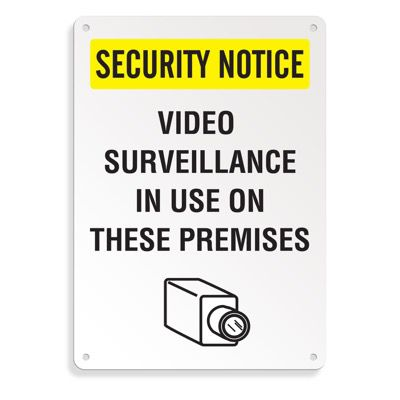 Security Camera Signs - Video Surveillance