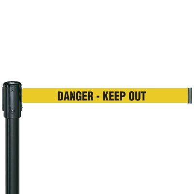 Danger Keep Out Security Tensabarrier 890B-33-35-33-STD-NO-S4X-C
