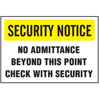 See-Thru Security Decals - No Admittance