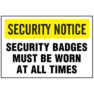 See-Thru Security Decals - Security Badges