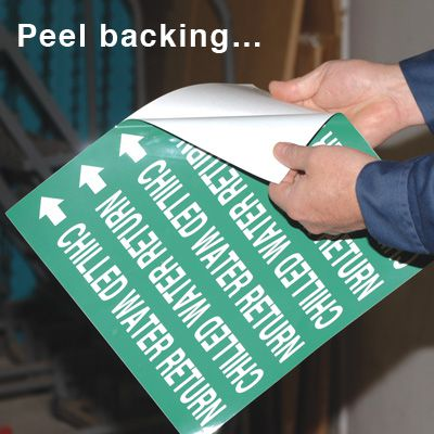 Self-Adhesive Wrap Around Pipe Labels - Natural Gas