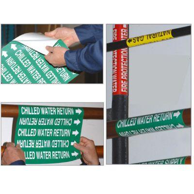 Custom Self-Adhesive Wrap Around Pipe Labels