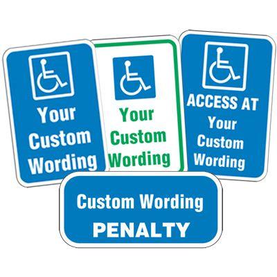 Semi-Custom ADA Parking Signs