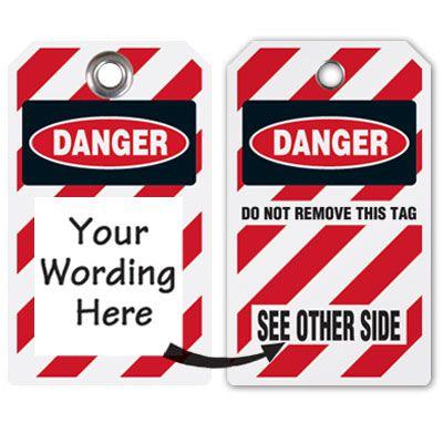 Semi-Custom Heavy Duty Plastic Tags