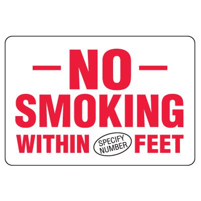 Semi-Custom Eco-Friendly Signs - No Smoking