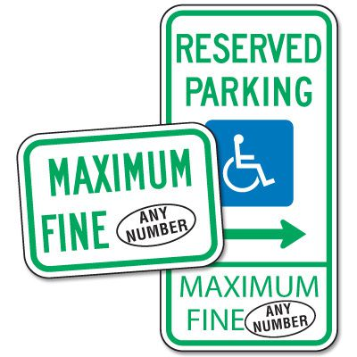 Semi-Custom Handicap Parking Signs - Maryland