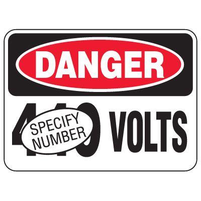 Semi-Custom Heavy-Duty Hazardous Work Site Signs - Danger Volts