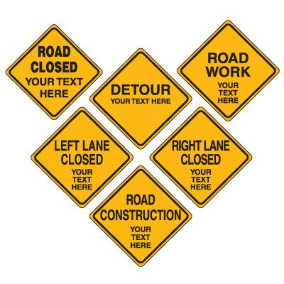 Semi-Custom Road Construction Signs