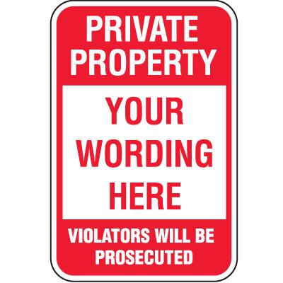 Semi-Custom Security & Stop Signs - Violators
