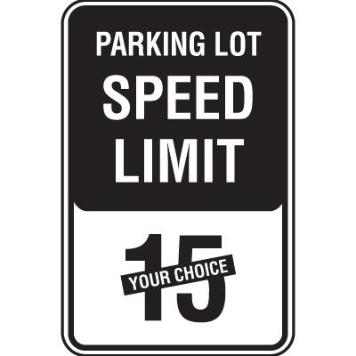 Semi-Custom Parking Lot Speed Limit Signs
