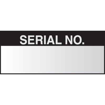 Serial Number Write on Labels