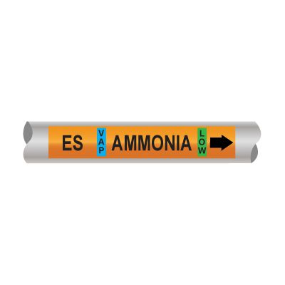 Setmark® Ammonia Pipe Markers - Economizer Suction