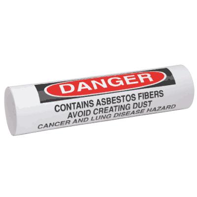 Setmark® Snap-Around Pipe Markers - Danger Asbestos