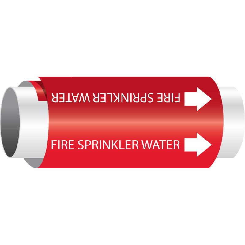 Setmark® Snap-Around Pipe Markers - Fire Sprinkler Water