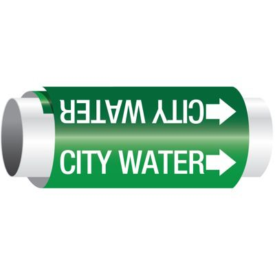 Setmark® Snap-Around Pipe Markers - City Water