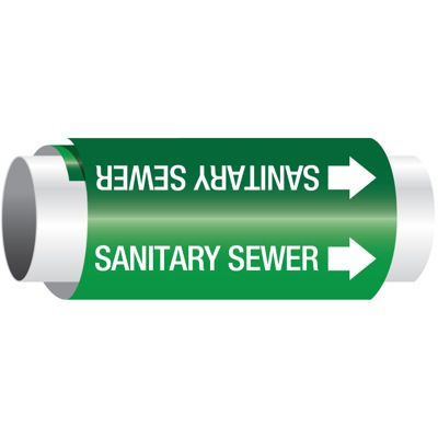 Setmark® Snap-Around Pipe Markers - Sanitary Sewer