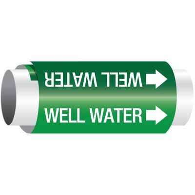 Setmark® Snap-Around Pipe Markers - Well Water