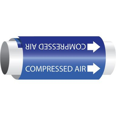 Setmark® Snap-Around Pipe Markers - Compressed Air