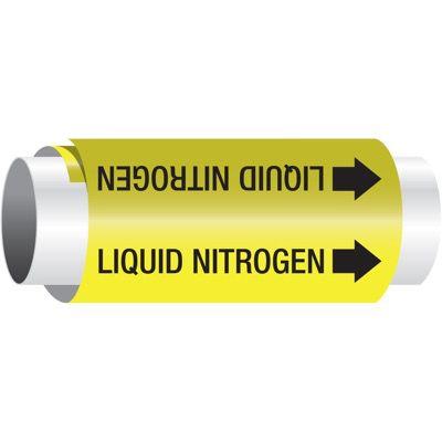 Setmark® Snap-Around Pipe Markers - Liquid Nitrogen