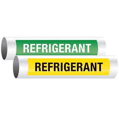 Seton Code™ Economy Self-Adhesive Pipe Markers - Refrigerant