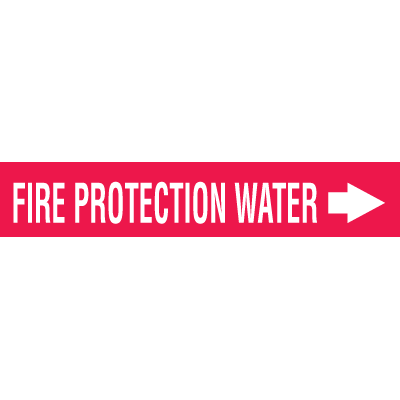 Seton Code™ Economy Self-Adhesive Pipe Markers - Fire Protection Water