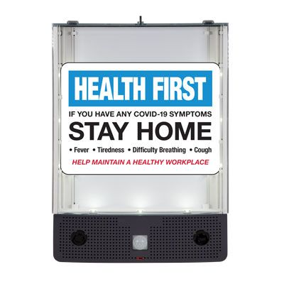Seton Safety Sign Alerter Kit - If You Have COVID-19 Symptoms Stay Home