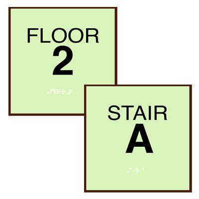 Custom SetonGlo™ Floor & Stair Identification Signs