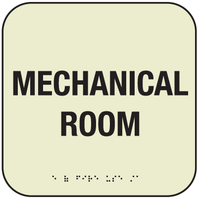 SetonGlo™ Front Office Fire Signs - Mechanical Room Sign