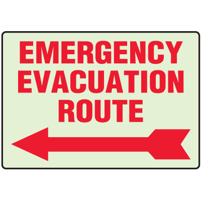 Luminous Exit and Path Marker Signs - Emergency Evacuation Route