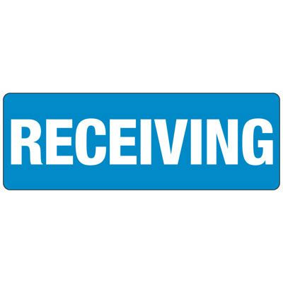 Receiving - Industrial Shipping and Receiving Signs