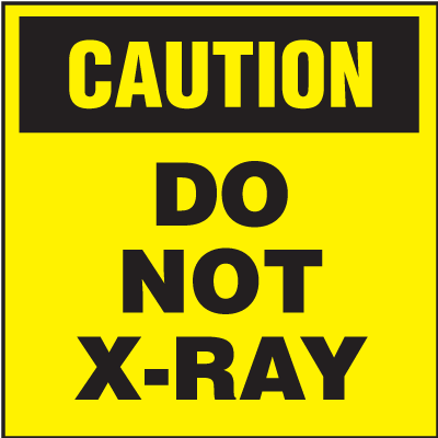 Caution Do Not X-Ray Shipping Labels