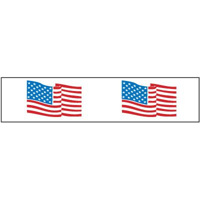 Nadco American Flag Shipping Tape PPW-2-55FL