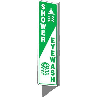 Shower / Eyewash  - 2-Way Sign