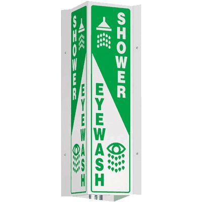 Shower / Eyewash - 4-Way Sign