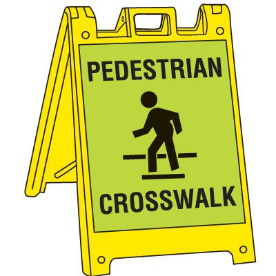Pedestrian Crosswalk Signicade Crosswalk Sign