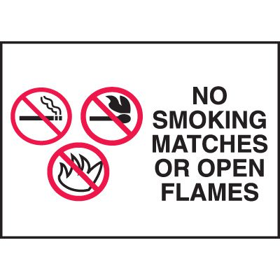 Signs - No Smoking Matches or Open Flames