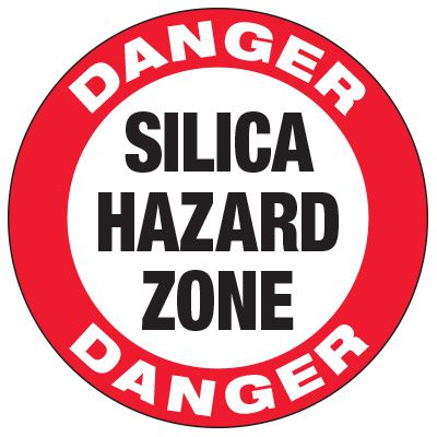 Silica Hazard Zone - Anti-Slip Floor Decals