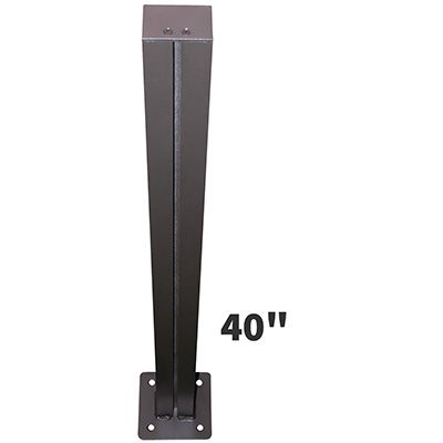 Single Post Mount with Baseplate