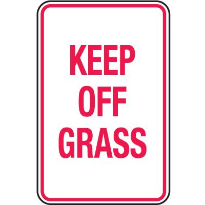 Skateboard Signs- Keep Off Grass