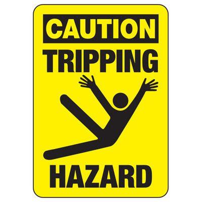 Caution Tripping Hazard (Graphic) - Industrial Slip and Trip Sign