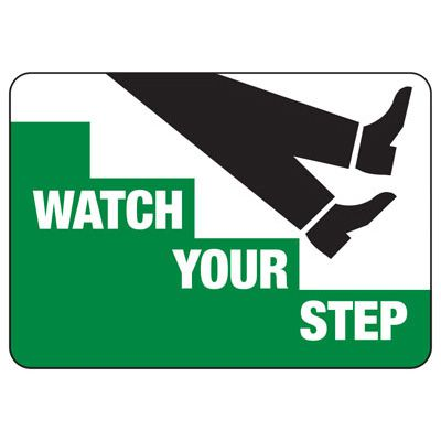 Watch Your Step (Graphic) - Industrial Slip and Trip Sign