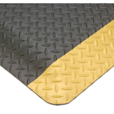 SMART Diamond-Plate Mat-Black/Yellow